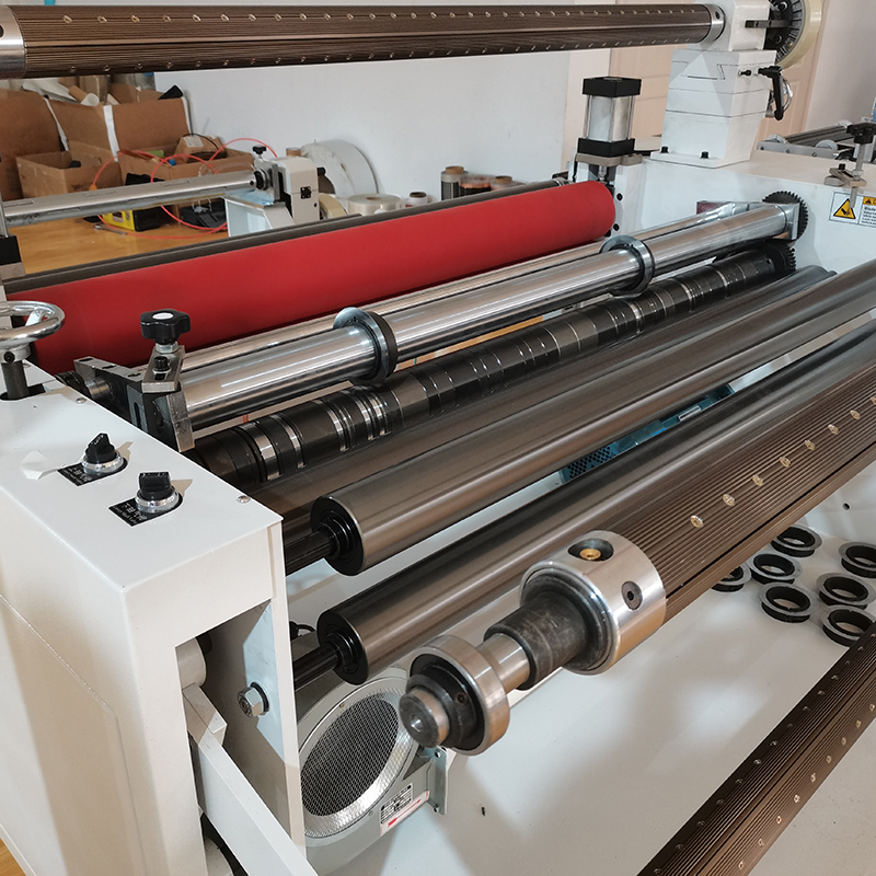 automatic strech paper pvc rewinding Laminating Slitting Machine